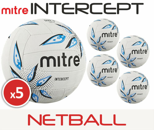 5 x Mitre Intercept Training Netball Sizes 45 Brand New