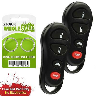 2 Replacement For 2002 2003 2004 Jeep Liberty Key Fob Remote Non OEM
