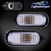 1992-1995 Honda Civic All Models Chrome Clear Dome Side Marker Lights Pair