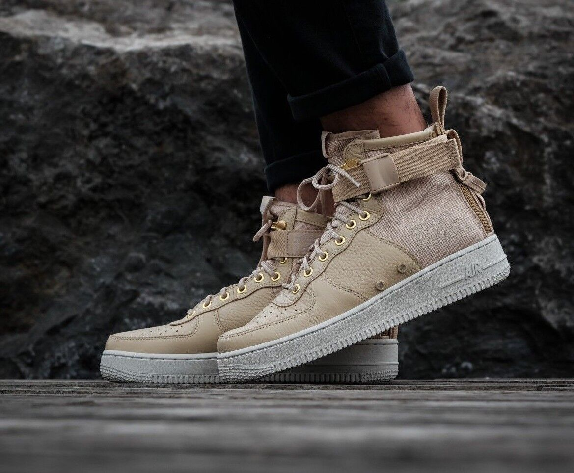 MENS NIKE SF AF1 MID AIR FORCE 1 SIZE 7.5 EUR 42 (917753 200)MUSHROOM/LIGHT BONE
