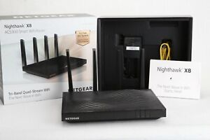 As-Is-NETGEAR-AC5300-Nighthawk-X8-Tri-Band-WiFi-Router-R8500-100NAS-Parts-Repair