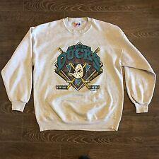 Rare Vintage NHL Anaheim Mighty Ducks Crew Neck Sweater Size Adult XL