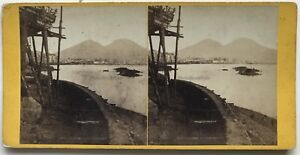 Vesuvio-Napoli-Italia-Foto-N-PL40L7-Stereo-Vintage-Albumina-c1865