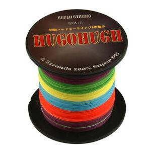 HUGOHUGH-100M-300M-500M-1000M-6-300LB-Dyneema-Super-Spectra-Braid-Fishing-Line