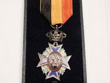 1889 ORDER MUTUALITY BELGIUM AWARD DUTCH CIVIL SERVICE CROSS OLD BELGIAN MEDAL