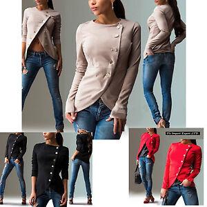 Maglia-Giacca-Donna-Top-Manica-Lunga-Woman-Long-Sleeve-Top-T-shirt-Jacket-561023