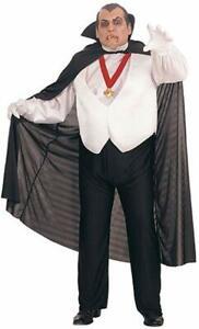 Dracula Universal Monsters Vampire Dress Up Halloween Plus Size Adult Costume 82686173179 Ebay