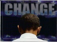 2008 TOPPS PRESIDENT OBAMA INAUGURAL EDITION CHANGE PARALLEL FOIL STICKER # 3!!!