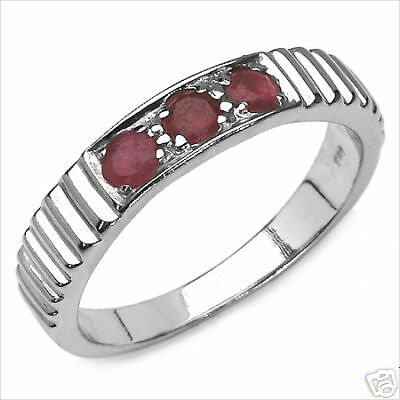 Gorgeous Genuine Ruby Gemstones Band Ring Size 7.0        RR96