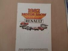 Renault 1981-82  Motorshow Sales Brochure 5 14 18 Fuego 20 30