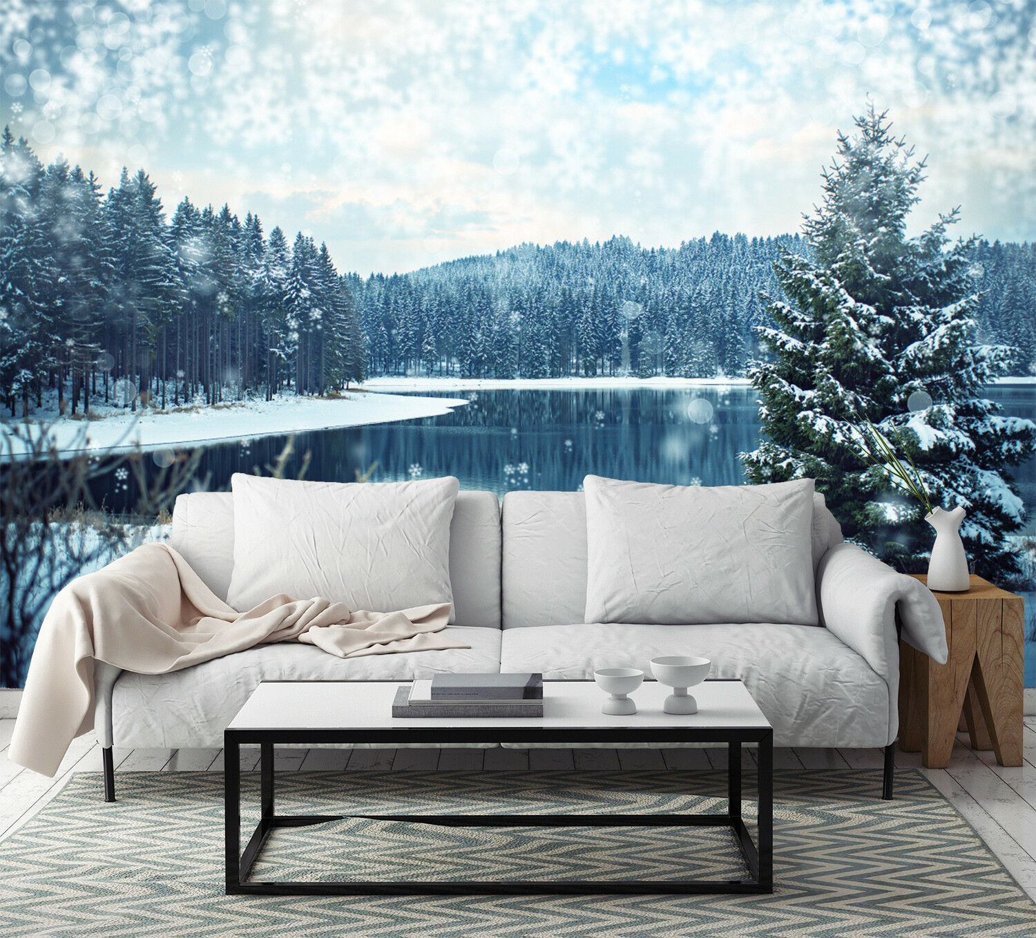 3D Snow Jungle Lake 88 Wall Paper Murals Wall Print Wall Wallpaper Mural AU Kyra