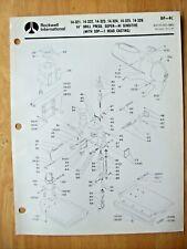 Rockwell 14 Drill Press Super Hi Sensitive 14 321 14 322 Parts List Dp 4c