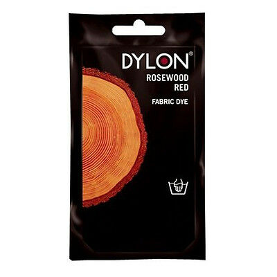 Dylon ROSEWOOD RED HAND DYE 50g Fabric Cotton Linen Clothes Material Trendy