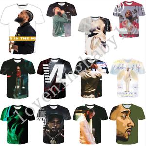 New-Hot-Women-Men-Rapper-Nipsey-Hussle-3D-Print-Casual-T-Shirt-Short-Sleeve-Tops