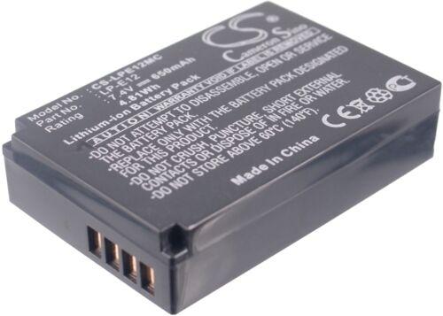 Reino Unido Batería para Canon EOS 100D Eos M Lp-e12 7.4 v Rohs
