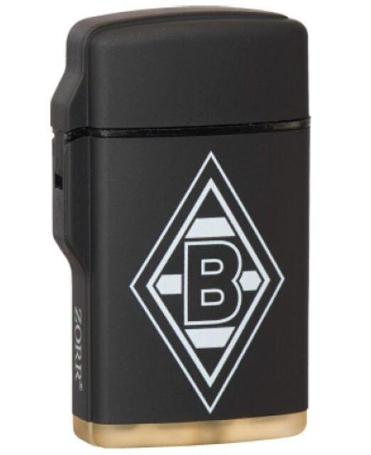 Rubber Laser Fu/ßball Feuerzeug Bundesliga - Fanartikel Logo schwarz Eintracht Frankfurt