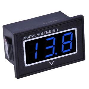 Wasserdicht-Digital-Mini-Voltmeter-3-30V-DC-Rot-Blau-Grun-0-36-034-Spannungsanzeige