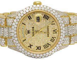 6298fabc8467a Rolex 18K or Jaune 18038 Jour-Date Président 36MM Montre Diamant ...