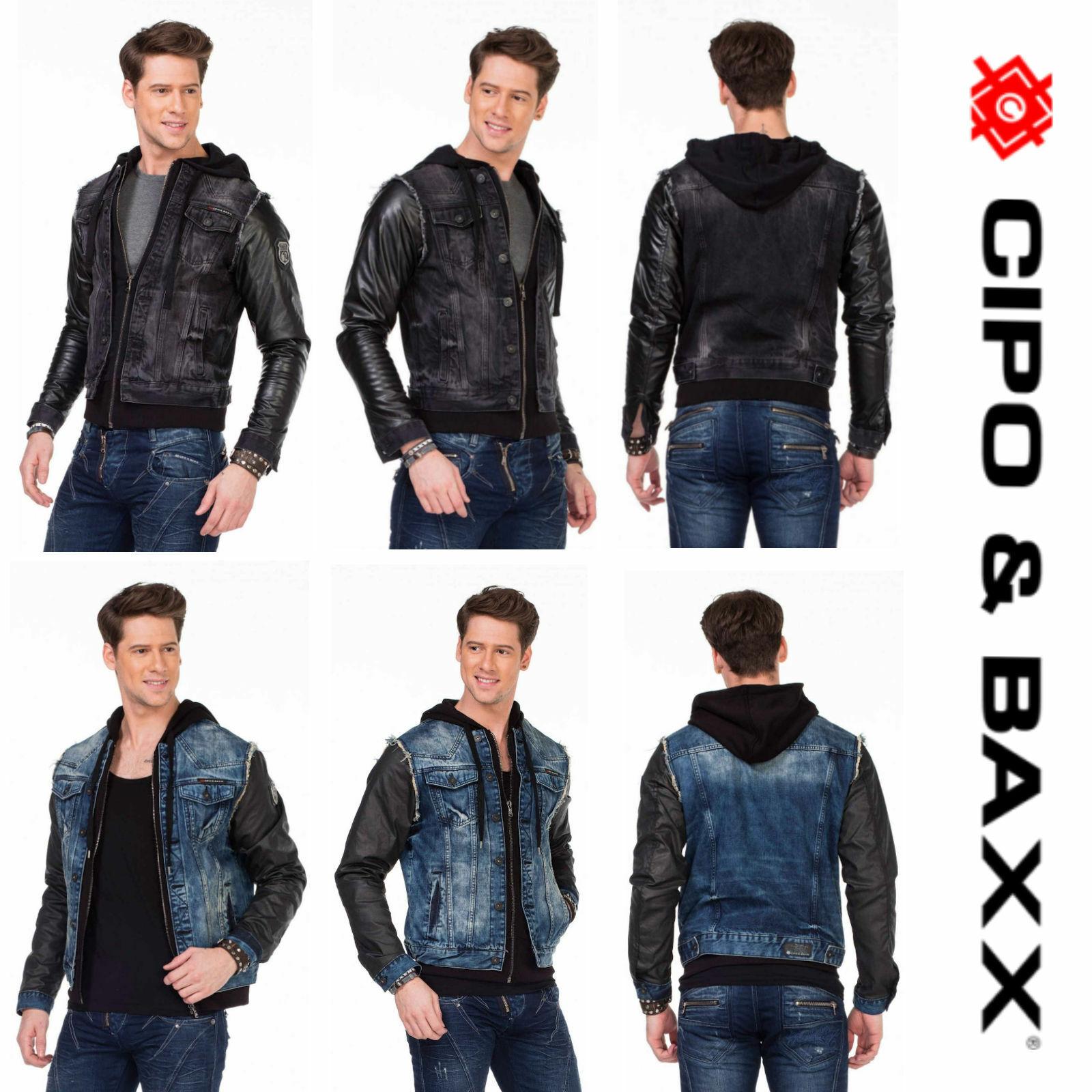 Cipo & Baxx hombres señores chaqueta invierno con mangas