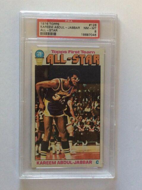 1976-77 TOPPS NBA BASKETBALL CARD #126 KAREEM ABDUL-JABBAR ALL-STAR PSA 8 NM-MT