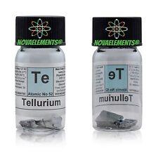 Tellur Metall element 52 Te Eiskristalle 99,999% 2g in Glasampulle+farbige Label