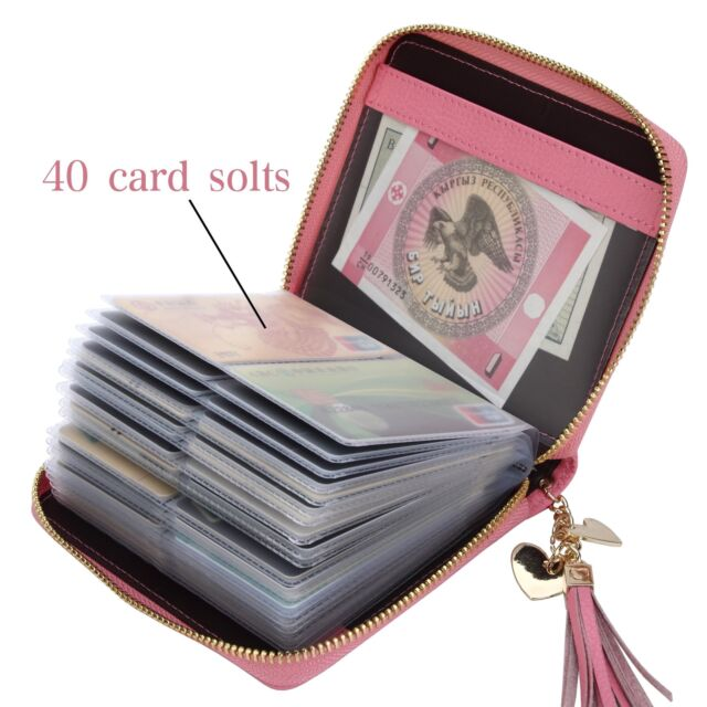 SafeCard Women s Credit Card Case Wallet 2 ID Window and Zipper Card Holder  ... 338adeb9e5