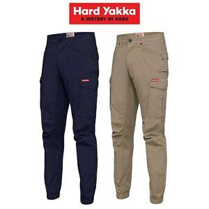 Mens-Hard-Yakka-Work-Pants-Cuff-3056-Ripstop-Stretch-Cargo-Slim-Fit-Tough-Y02340