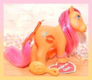 ❤️My Little Pony MLP G1 Vtg Sweet Kisses CANDY KISSES UK Euro Exclusive Orange❤️