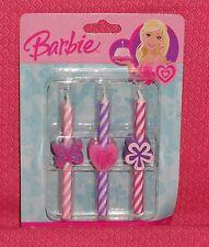 Barbie Icon Candles, 6 pcs.Birthday Cake Decoration,Pink, DecoPac. 5937