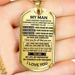 Details about My Man Dog Tag Military - You Are My Life Quotes Pendant  Personalized Gifts