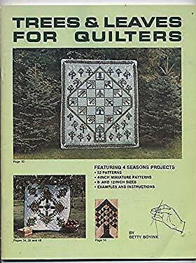 Trees and Leaves for Quilters by Boyink, Betty