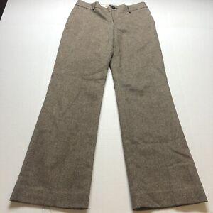 Banana Republic The Martin Fit Brown Wool Blend Dress Pants Size 8 A1751