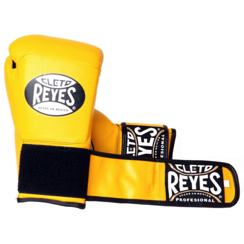 Yellow Cleto Reyes Lace Up Hook and Loop Hybrid Boxing Gloves