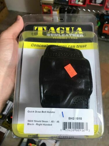 BLACK R//H TAGUA BH2-1010 1836 Edition Leather Holster S/&W Shield