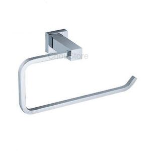 Chrome Brass Bathroom Hand Towel Ring Towel Rack Holder Square Towel Bar C125 Ebay