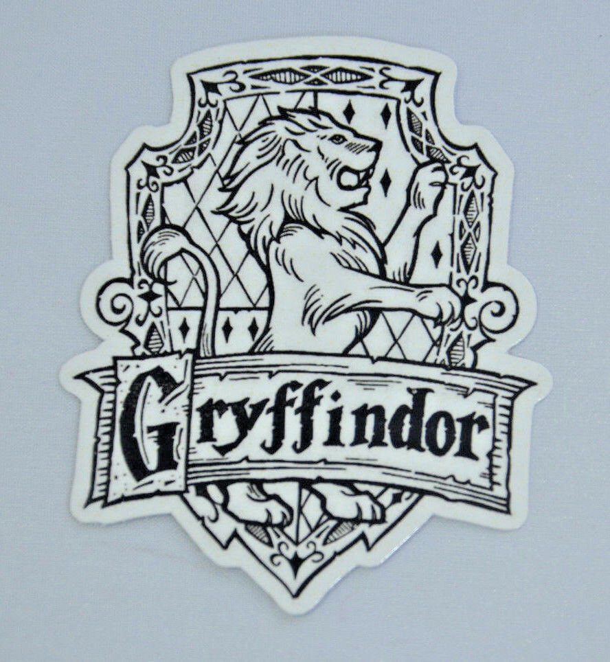 SLYTHERIN GRYFFINDOR HUFFLEPUFF Vinyl Decal Stickers for Laptop Phone 6x7cm B/&W