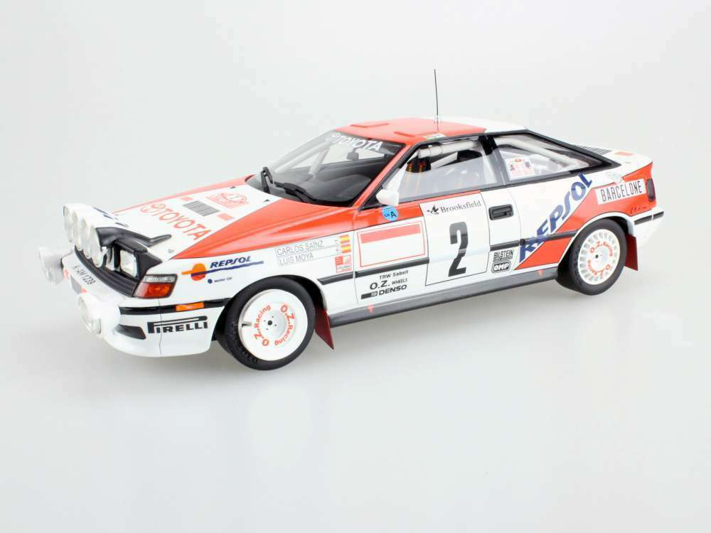 TOP MARQUES 044A TOYOTA ST 165 model car win Carlos Sainz  Luis Moya 1991 1 18th