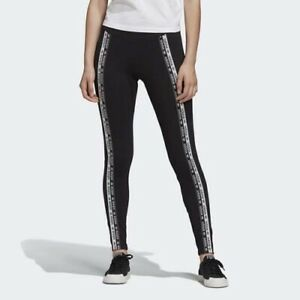 Adidas EC0750 Women originals Tape tights logo long pants black