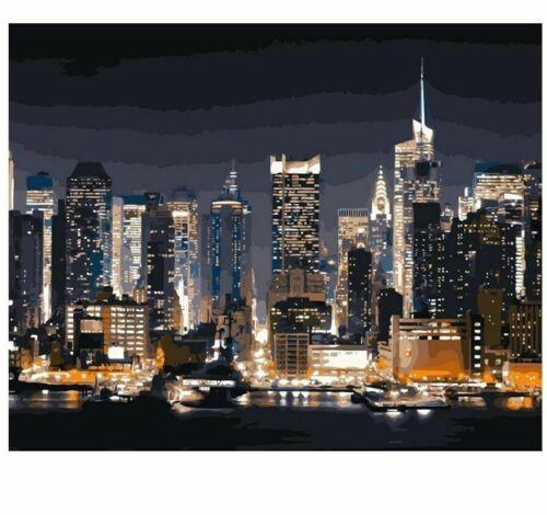 New York City Night Diamond Painting Embroidery Picture of Rhinestone Mosaic