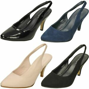 2fbf830e2d89 Image is loading Ladies-Spot-On-Mid-Heel-Slingback-039-Court-