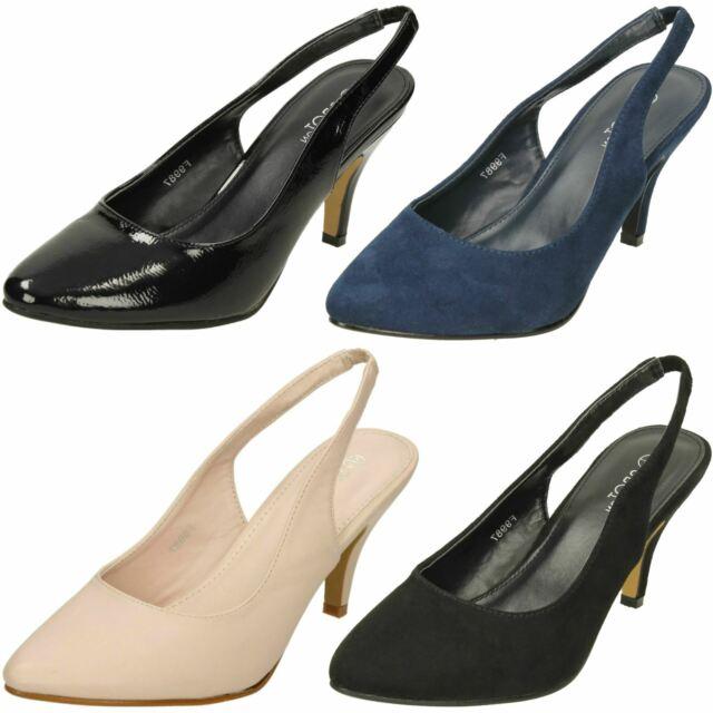 34fc15f5ebe29 Dune Ladies Cathy Slingback Mid Heel Court Shoe in Navy UK 6 for sale | eBay