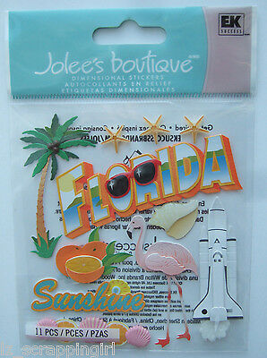 ~FLORIDA~ Jolee's Boutique Dimensional Stickers; Cape Canaveral Miami Orlando FL