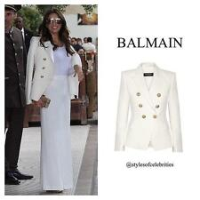 Balmain Double-breasted White Wool blazer FR38 Uk10 sold out Style Jacket