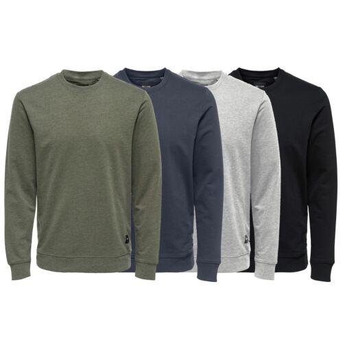 BNWT Only /& Sons Men/'s Basic Sweatshirt Crew Neck Jumper