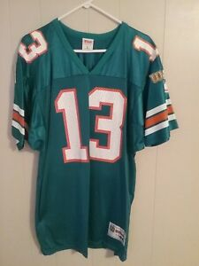 half off e6d1c bd14c Details about MIAMI DOLPHINS DAN MARINO WILSON THROWBACK JERSEY AUTOGRAPHED  BY BOTH MARINO & S