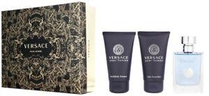 Versace Pour Homme 3 piece Gift Set for Men
