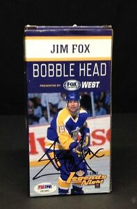 Jim Fox Signed Bobble Head Box PSA/DNA COA #Y91981
