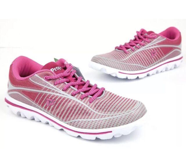 Propet Women Billie W5100 Light weight Walking Sneaker Shoes PINK GREY 9 M