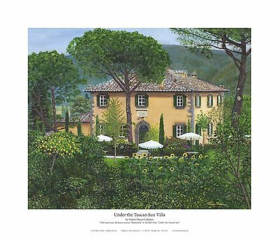 Giclee Realism Print Artwork Reproduction Under the Tuscan Sun Villa