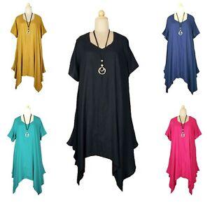 Lagenlook-viscose-Surdimensionne-magnifique-robe-longue-Taille-20-22-24-26-28